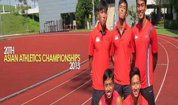 asian athletics india finish with 1 gold 2 silver...