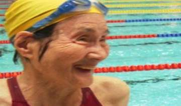 100 year old woman swims 1500 metres in masters...