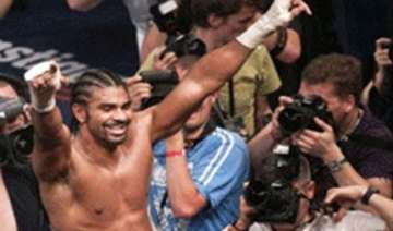 david haye of britain is world heavyweight boxing...