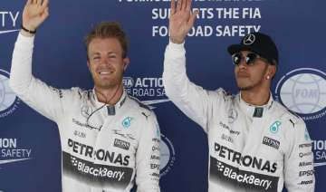 rosberg takes pole position for spanish gp ahead...