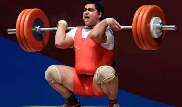 india end commonwealth weightlifting with 45...