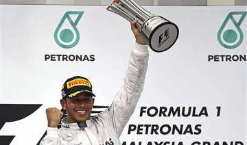 lewis hamilton wins malaysian grand prix. - India...