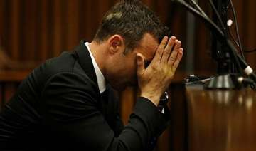 oscar pistorius on the line now in murder trial....