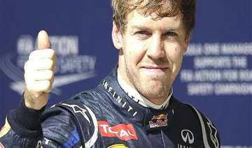vettel takes pole position in f1 practice session...