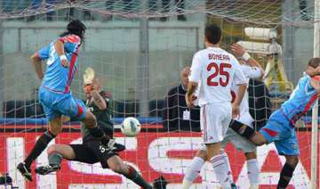 ac milan held 1 1 at catania in serie a - India TV