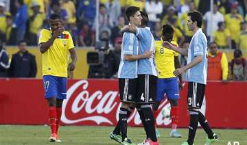 argentina draw with ecuador in football world cup...