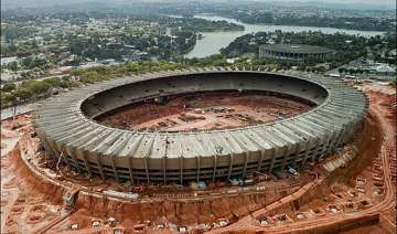 brazil world cup stadium roof partially collapses...