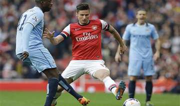 epl arsenal prevents man city going top with 1 1...