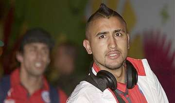 fifa world cup fit again vidal arrives in brazil...