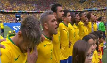 fifa world cup when national anthem made neymar...