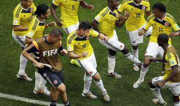 fifa world cup colombia beat ivory coast 2 1 in a...