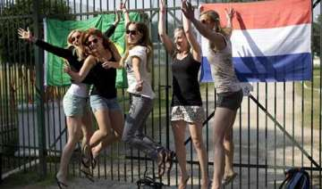 fifa world cup in brazil camp for dutch fans...