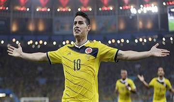 fifa world cup colombia leads uruguay 1 0 at...