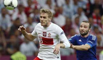 greece earns 1 1 draw against poland at euro 2012...