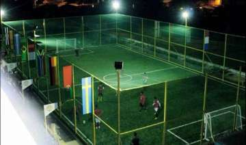 india s first rooftop mini football field - India...