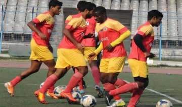 east bengal play i league match before empty...