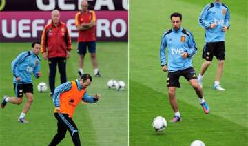 iniesta spain set example for france at euro 2012...