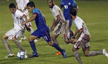 injury time goal gives india 2 2 draw against uae...