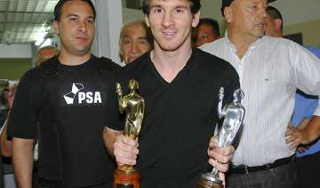 messi set to win 3rd straight world player honor...