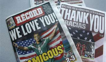 mexican papers thank us for soccer win - India TV