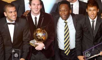 pele thinks messi still has some improving to do...