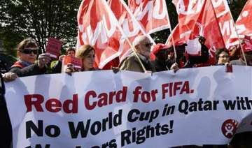 qatar will keep major soccer event amid protests...