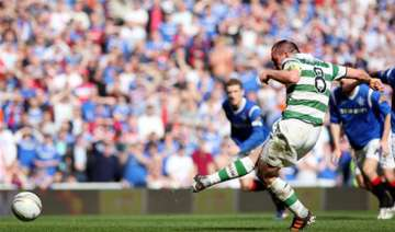 rangers 2 1 win makes celtic wait for spl title -...