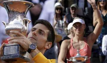 djokovic beats federer for rome title sharapova...