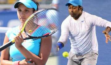 australian open 2015 paes bopanna sania crashes...