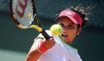 sania wins first round of french open - India TV