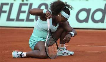 serena williams out in 1st round of mixed doubles...