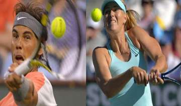 nadal and sharapova out at indian wells - India TV