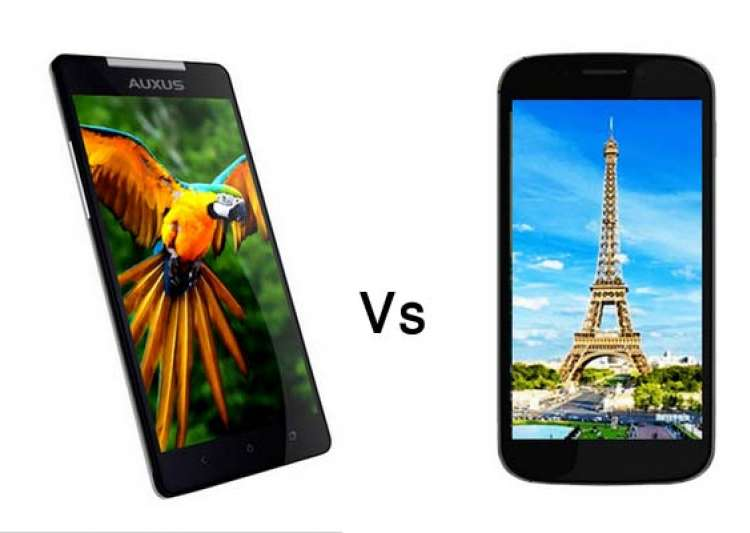a comparison iberry auxus nuclea n1 vs micromax canvas 4- India Tv