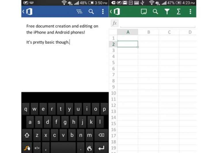 can office applications run on android phones