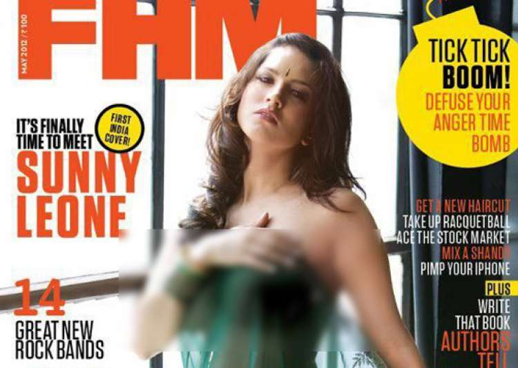 sunny leone in bare dare pose for men s magazine- India Tv