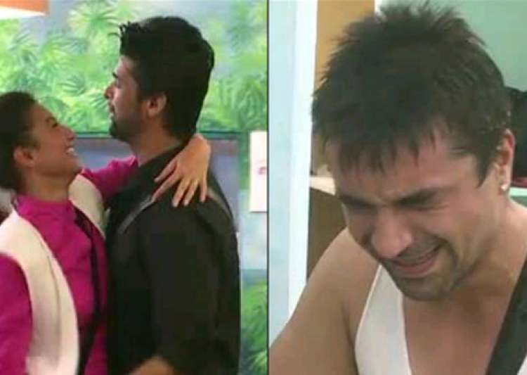 bigg boss 7 ajaz breaks down as gauhar and kushal get close and dance see pics- India Tv