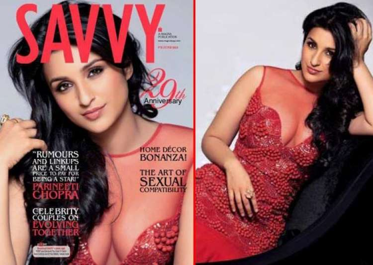 parineeti chopra flaunts cleavage for savvy cover watch pics- India Tv