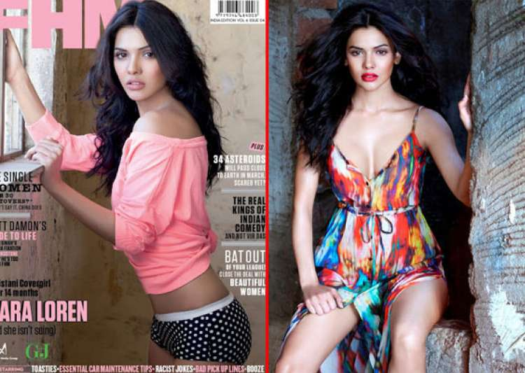 sara loren does hot photoshoot for fhm magazine- India Tv