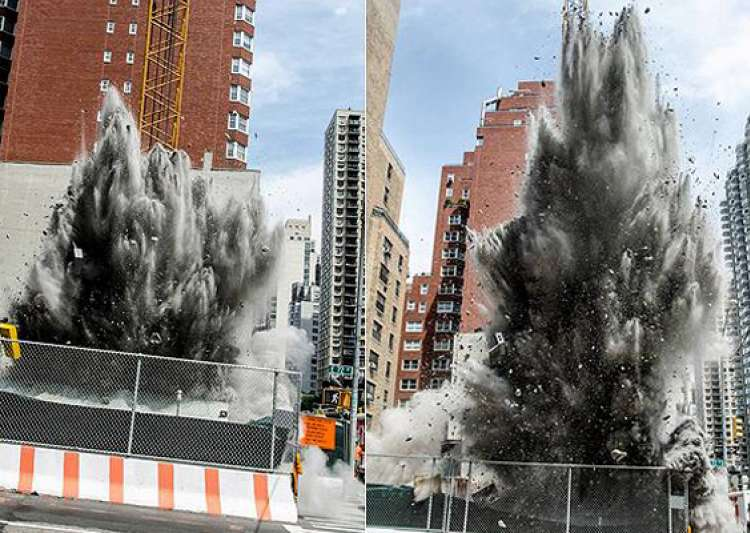 underground dynamite blast in new york spews concrete as- India Tv