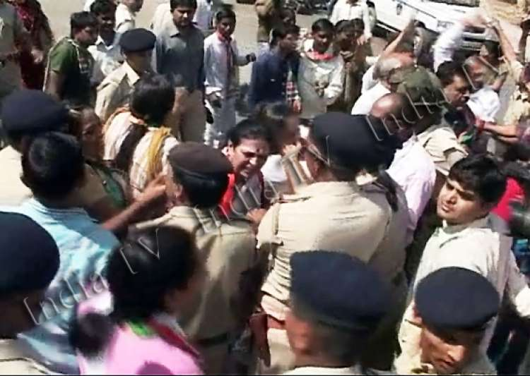 congress rally baton charged in gujarat 200 detained- India Tv
