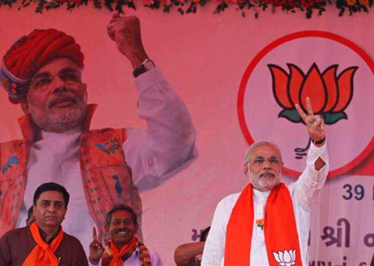 gujarat poll modi sticks to development agenda- India Tv