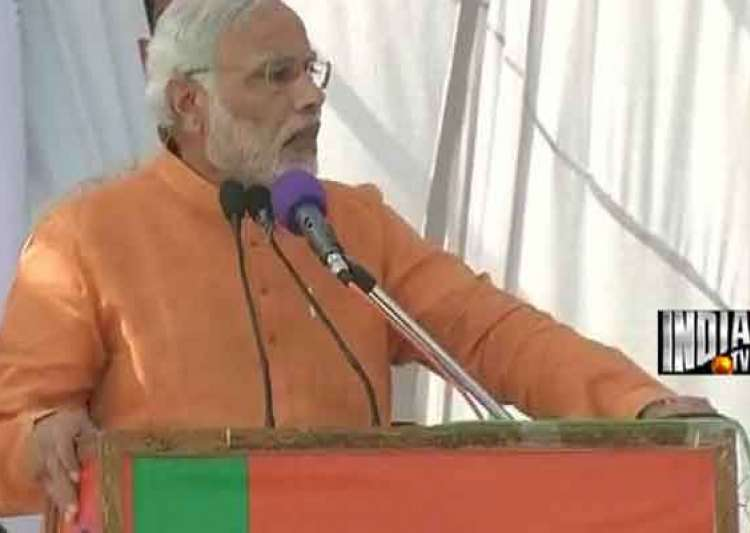 live narendra modi calls for debate on art 370 at jammu- India Tv