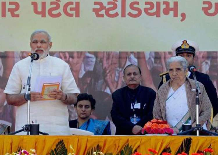 narendra modi takes charge of gujarat again for fourth term in a row- India Tv