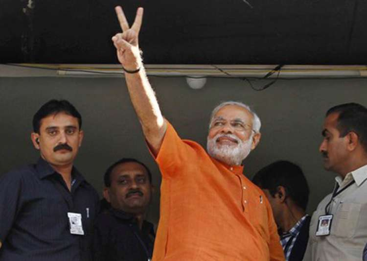 modi wins maninagar seat by 70 000 votes- India Tv