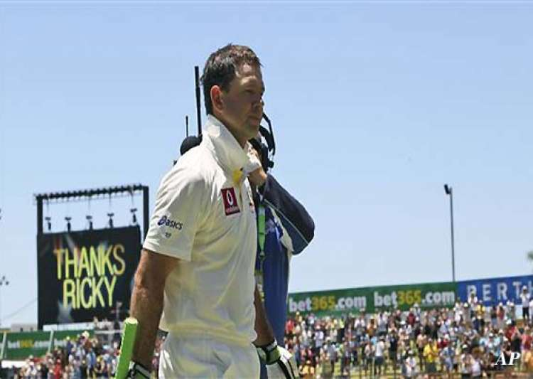 ponting out for 8 in his last test innings- India Tv