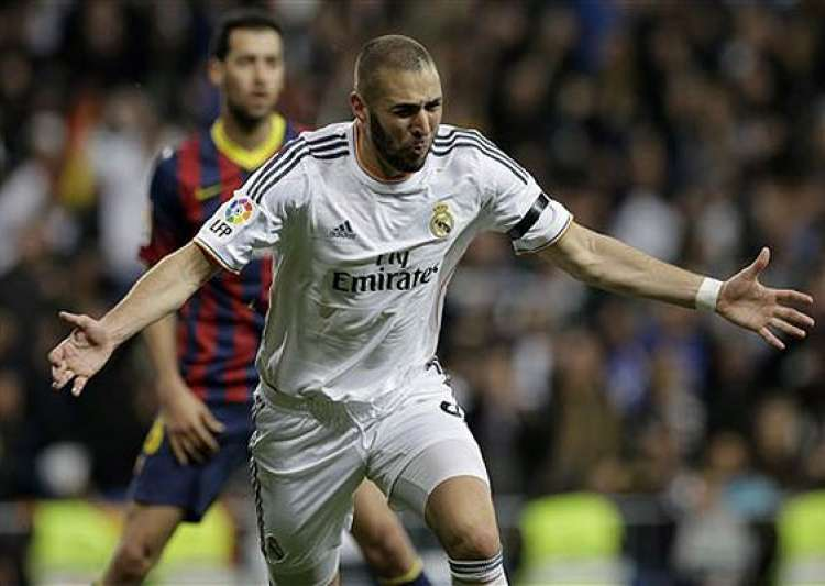 karim benzema the real madrid striker on a different pitch.- India Tv
