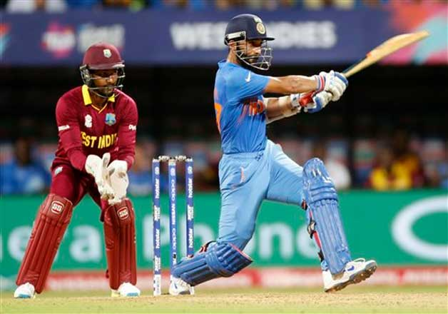 India's Ajinkya Rahane bats during ICC World Twenty20 2016 cricket ...