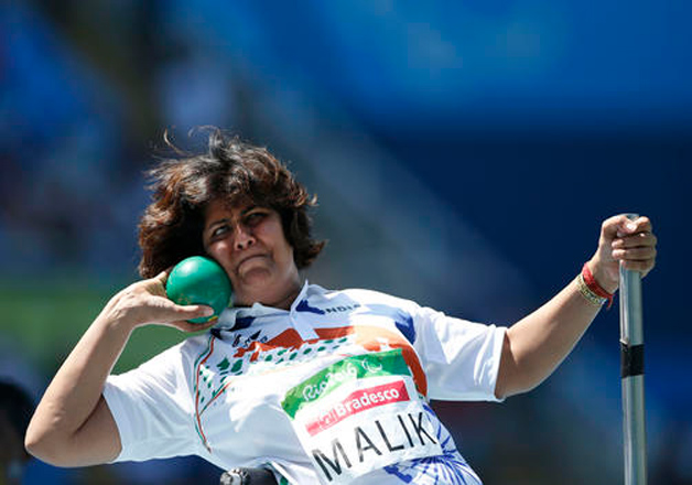 India's Deepa Malik competes to win the silver medal in the women's final shot put F53 athletics event during the Paralympic Games at Olympic Stadium in Rio de Janeiro, Brazil.