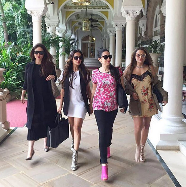 How can one miss her ravishing appearance with the girl gang Karisma Kapoor, Malaika Arora Khan and Amrita Arora. Kareena did raised a lot of eyebrows with her high heels she was wearing with her black one piece dress.