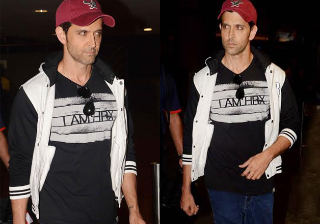 Hrithik Roshan was also seen at the airport where his dressing style would give fashion goals to men. He sported a T-shirt from his brand 'HRX', and teamed it with blue denims and a red cap.